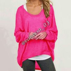 Baggy Hi-Lo Top. READ DESCRIPTION! Pink Polyester. PLEASE NOTE DUE TO DIFFERENT MONITORS THE PINK MAY BE SLIGHTLY DIFFERENT! This is a semi sheer (you'll probably want to wear tank top under it) lightweight thin textured sweater. Baggy Hi-Lo top   PRICE FIRM unless Bundled. These are NWOT Retail. Sweaters