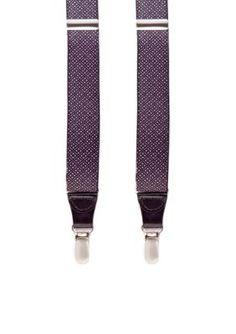 Saddlebred Men's Foulard Stretch Clip Suspenders - White - One Size