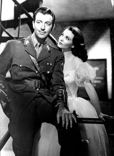 Robert Taylor and Vivien Leigh, Waterloo Bridge 1940... beautifully sad film. But I love Miss Leigh