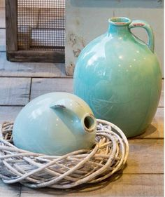 STROOM Vaasi M 19-K23 cm Turkoosi Vase, Home Decor, Homemade Home Decor, Interior Design, Jars, Home Interiors, Vases, Decoration Home, Flowers Vase