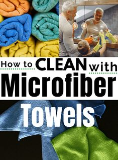 How to Use Microfiber Cloths for Cleaning Dishes, Bathrooms, Mirrors and More - natural, eco-friendly and tested by real (busy) families. Also, learn how to wash your microfiber cloths correctly to extend their life. #naturalcleaning