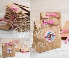 Resultado de imagen para como decorar bolsitas de papel madera para cumpleaños