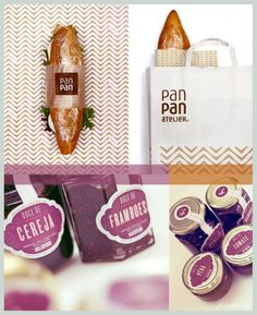 Bread + Jam packaging design.  Looks delicious IMPDO.