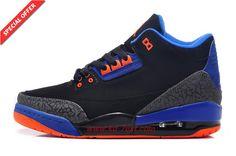 f56b629e1f1a07 Cheap 136064-084 AIR JORDAN 3 RETRO Black Blue Orange Air Jordan 3