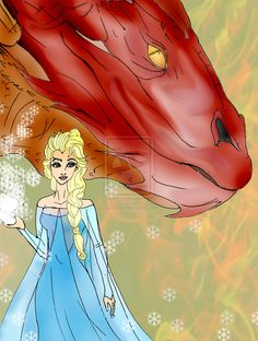 elsa_and_smaug_wish_you_a_merry_christmas_by_selinelle-d6yrvzw.jpg (1024×1357)