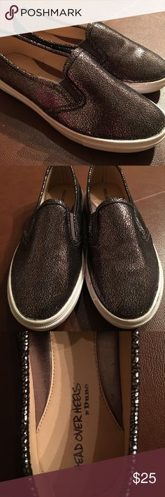Metallic shoes Head Over Heels by Dune. Never worn. States 38, but fits like a size 7. Head Over Heels Shoes Sneakers