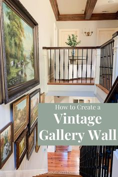 Tips on how to create a vintage gallery wall will have you on the hunt for those perfect treasures whether in-store or online. Local Furniture, Affordable Decor, Home Art, Home, Decor Design, Gallery Wall, Thrift Store Makeover, Diy Home Crafts, Southern Homes