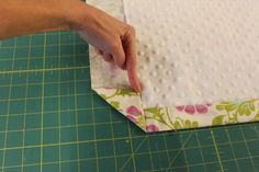 Crafting with Christie: Sewing Tip - Mitered corners on a blanket