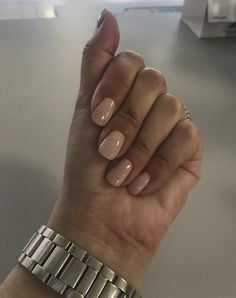 Beautiful nude nails by SquareNails