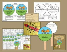 These question and answer sticks are one way to support literacy and stretch student understanding and appreciation of the story, Hey, Little Ant by Phillip and Hannah Hoose. Plus a fun ant craft, too. $