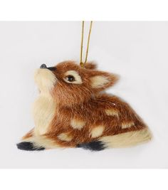 Holiday Cheer Furry Deer Ornament