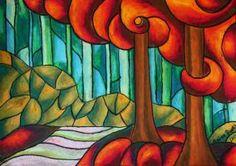 Orange Trees by anitadunkl