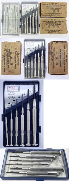 Tools and Parts 14325: Vintage U.S. Navy H.D.I. Jeweler Precision Screwdrivers Watchmaker Tools Lot Nos -> BUY IT NOW ONLY: $39 on eBay!