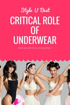 Let's talk about underwear. I can't stress enough how important it is. Did you know that you can visually drop 2 sizes just by choosing the right bra!