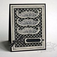 Stampin' Up!  Well Worded Father's Day Card