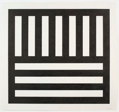 "1stdibs.com - Fine Art | From American Artist Sol LeWitt: ""Black Bands in Two Directions"" 1991"