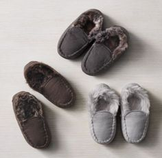 RH Baby & Child's Luxe Faux Fur Lined Moccasins:Sewn from tough cotton canvas and lined with luxuriant faux fur, our moccasins celebrate the soft construction and inviting warmth of the iconic originals that inspired them.