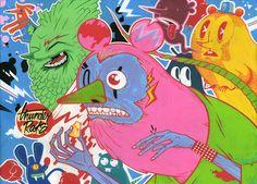 Thunder Rats designed by Oleg Milshtein. My Fb, Rats, Thunder, Illustrators, Typography, Creatures, Kids Rugs, Art Prints, Inspiring Art