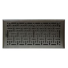 Accord Wicker Oil-Rubbed Bronze Steel Floor Register (Rough Opening: 14-in x 6-in; Actual: 15.42-in x 7.37-in)