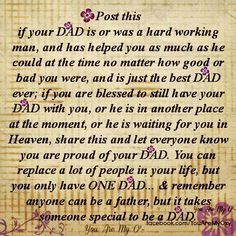 Daddys girl...from me and my sis to our Dad... and from my girls to their Dad