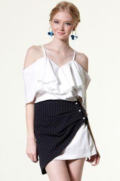 Lynn 2way Stripe Skirt from Storets