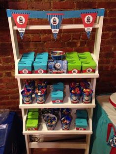 Favors at a Thomas the Tank Engine party!  See more party ideas at CatchMyParty.com!  #partyideas #train