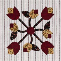 Pattern from Inspired by Tradition: 50 Appliqué Blocks in 5 Sizes