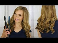 Curl Extensions with a Flat Iron - YouTube