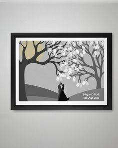 Perfect for winter occasions this beautiul design comes complete with Silver and white ink pads allowing your guests to create a winter wedding scene