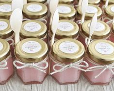 Set of 12 Sugar Scrub Mini Favors 2 oz. each Mason Jars Honey Jar Favors, Mason Jar Favors, Mini Mason Jars, Baby Shower Favours For Guests, Baby Shower Party Favors, Baby Shower Parties, Baby Shower Giveaways, Baby Giveaways, Wedding Fair