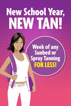 College Special! Get a week of any level UV tanning and Sunless at Sun Tan City by clicking here! Available at select locations only. Other restrictions may apply. See salon for details.