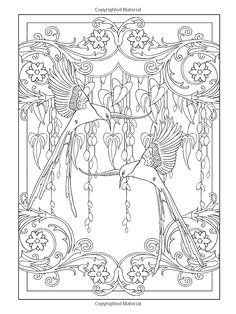 Bol Com Creative Haven Art Nouveau Animal Designs Coloring Book