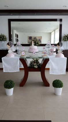 communion in pink and white