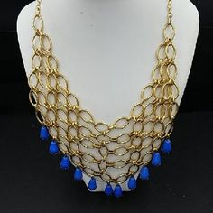 Vintage Costume Jewelry  Silver Tone Metal Mesh Necklace  High Fashion Costume Neck Adornment