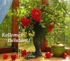 ♥ Eknéry ♥ Windows And Doors, Home Deco, Still Life, Glass Vase, Diy Crafts, Pretty, Painting, Decor, Gardens