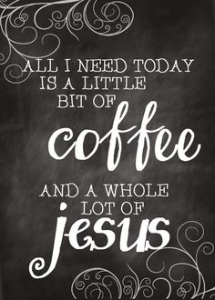 coffee and Jesus - free printable postcard