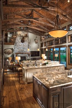 Luxury Home Interior Great Room At Dusk Home Built By Brannen Home