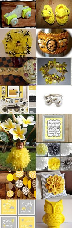Splash of Sunshine (Group 7) by Blue Suede Stitches on Etsy--Pinned with TreasuryPin.com #yellowgiftguide