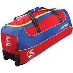 SG AEROPAK Wheel Bag. Contemporary looking junior trolley bag Bigger size  External trolley puller Heavy-duty wheels fitting for easy portability and  ... 60d6c8cc6c824