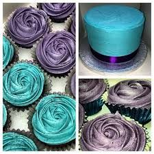 Image result for turquoise purple muffin cupcake tumblr