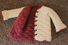 Reversible You pattern by Amy Price/Knit Pick ~n~ Crochet - Super knitting Crochet Girls, Crochet Baby Clothes, Love Crochet, Crochet For Kids, Baby Knitting Patterns, Crochet Patterns, Crochet Coat, Crochet Jacket, Knit Picks
