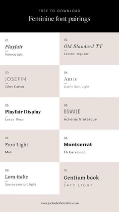 Fonts - Fonts Sometimes it can be difficult to know where to start when designing your branding, website or packaging, or trying to create a professional yet feminine look and feel. I've taken some of the hassle… Typography Fonts, Typography Design, Branding Design, Cursive Fonts, Fonts For Logos, Typography Alphabet, Graphic Design Fonts, Web Design, Vector Design