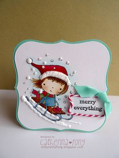 Mimi sledding by Cathy Fong, www.pennyblackinc.com