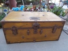 Vintage Foot Locker Trunk/ Not Included In Any Coupon Discount Sale /New Listing by Daysgonebytreasures on Etsy