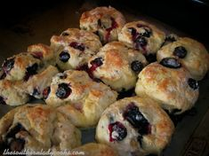 These Blueberry Biscuits are wonderful. A nice change from the traditional biscuit and perfect for brunch. Anyone will love these blueberry biscuits