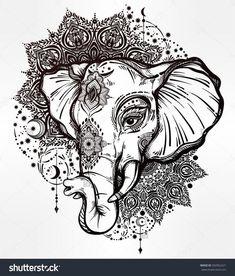 stock-vector-decorative-vector-elephant-with-tribal-mandala-ornaments-ideal-ethnic-background-tattoo-art-yoga-592962221.jpg 1,364×1,600 pixels