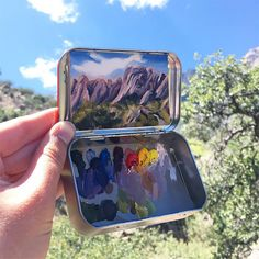 "Two years ago, Heidi Annalise quit her government job in Washington DC and returned to her home state of Colorado to paint– out of handheld mint cans. She spends most of her days ""frolicking in meadows"" and painting the wilderness and has since managed to rack up an Instagram following of more than"
