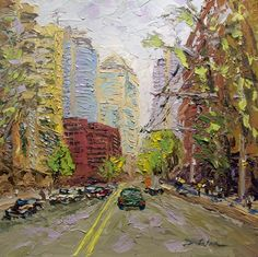 This is the painting I did for a painting demonstration for the Palette Knife Painting Class I am teaching tomorrow. I had a great engaged and inquisitive ...