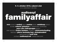 Paco aka Risikogruppe @ Audioasyl Familyaffair - 5.10 Cabaret Club Zürich
