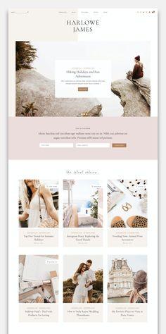 Website Design Inspiration, Blog Website Design, Wordpress Website Design, Blog Designs, Design Ideas, Branding, Site Internet, Layout, Best Wordpress Themes